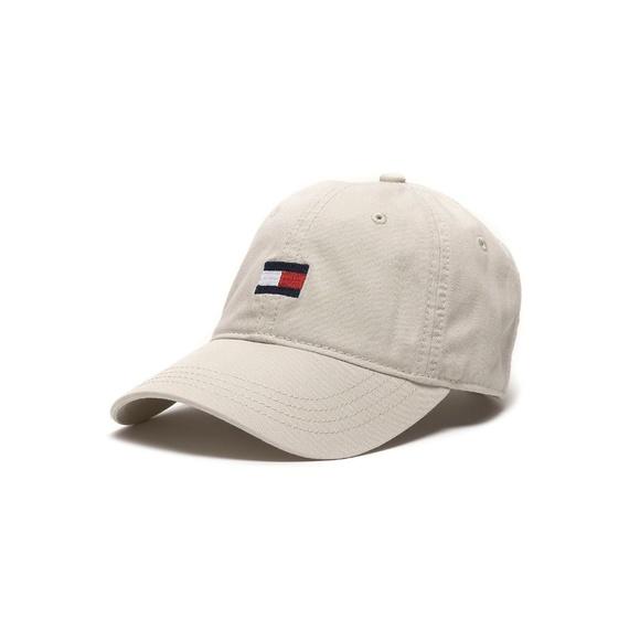 Tommy Hilfiger Logo Baseball Cap Hat Tan Beige. NWT d6f0756695cf